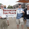 Eric, Matt and Fran at today's community rally to protest Islamophobia and the murder of the Imams in Queens last week.