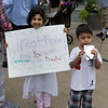 Do unto others....an elemental truth. These kids were very proud of the sign that they made.
