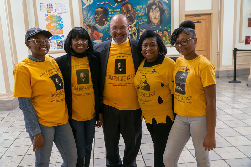 Chris Owens of the Central Brooklyn Martin Luther KIng Commission with colleagues who helped the event run smoothly.