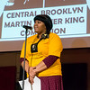 This young woman, a graduate of Brooklyn's public schools and who now holds a Master's Degree, moderated the main event: the reading of the essayist's work and the presentation of their awards. It was quite beautiful!