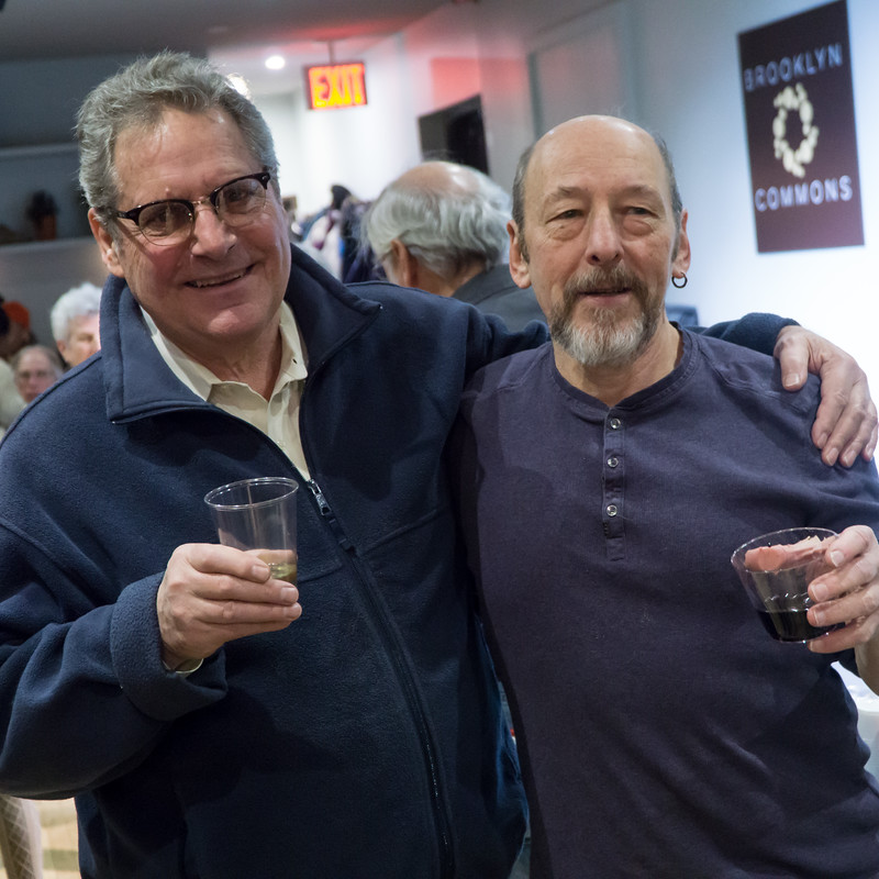 It's Eric and Sam—two great peace activists. Toasting a new year.