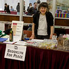 Thank you Eleanor for everything you do! Staffing our merchandise table at the Peace Fair.