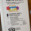 A poster advertizing BFPs Spring Blast on May 3rd.