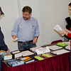 BFP's new Cllimate Action Committee table. Gary talks to interested visitors.