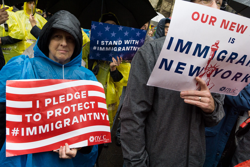 Determination to protect immigrants and refugees from Trumpism.