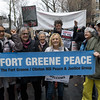 Folks from Fort Greene Peace and Brooklyn For Peace were there to march with thousands of others.