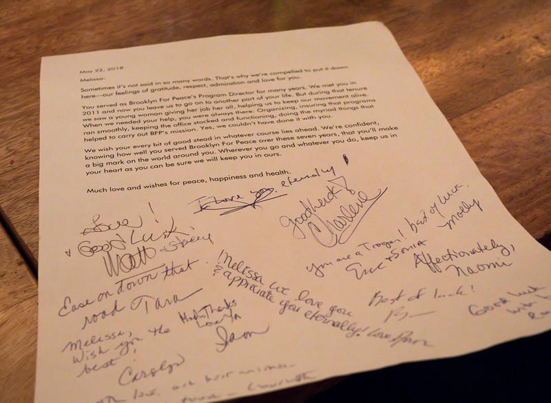 A letter of appreciation.