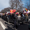 Wow! As we entered Central Park West from West 68th Street we looked north and there were marchers as far as the eye could see! Same thing to the south!