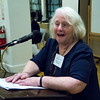 """BFP Vie-Chair Carolyn """"Rusti"""" Eisenberg, always right on point, introduces her friend and life long activist for peace and the enviornment, Leslie Cagan."""