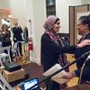 BFP Vice-Chair Veronica Nunn welcomes honoree Linda Sarsou to the podium.