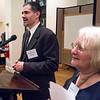 Dan Wiley, representing Congresswoman Nydia Velazquez, addressed the gathering.