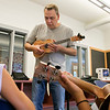 Douglas Siqueira a music teacher from Indian Hill Music taught a ukulele class at the Boys and Girls club on Wednesday, July 24, 2019. Siqueira taught the kids to play Twinkle Twinkle Little Star. SENTINEL & ENTERPRISE/JOHN LOVE
