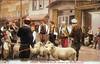 Prodaja kurbana (ovnova) na Baščaršiji , početak 20.vijeka