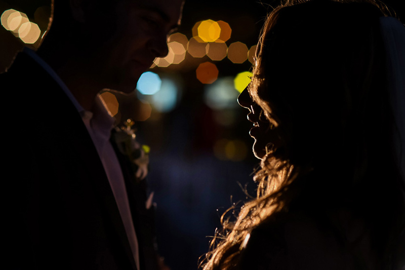 I use the Lowel GL-1 Hotlight when the sun sets and it allows me to stretch my photo session into the evening. Unlike the ice light, the hotlight will project a spotlight far into the distance, which means you don't have to stand too close to the couple.