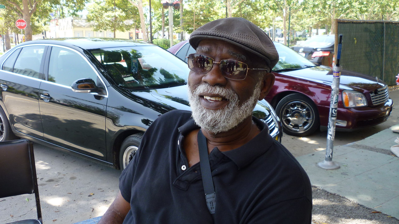 Filmmaker Ben Caldwell, longtime friend in Leimert Park.  He allowed us to have the Afrikan World Civilizations classes there for years. Classes there