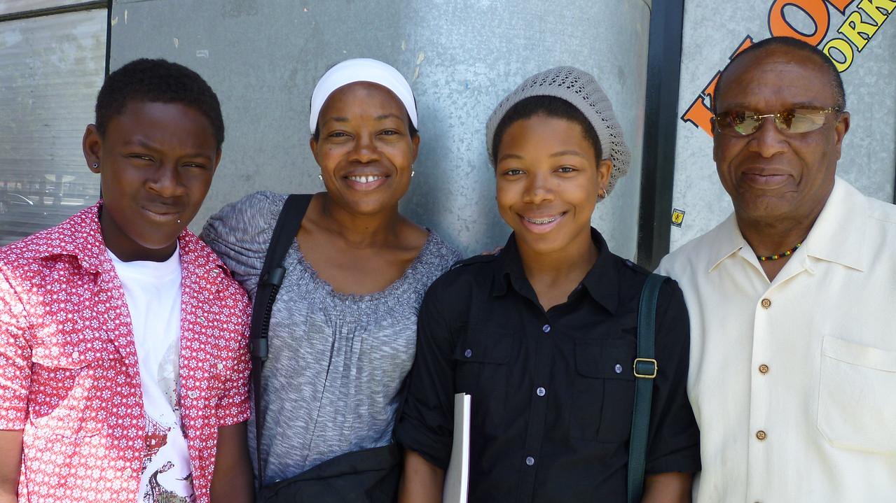Ajani, Ms. Andrea Edwards, Alexandra and Dr. Kwaku.