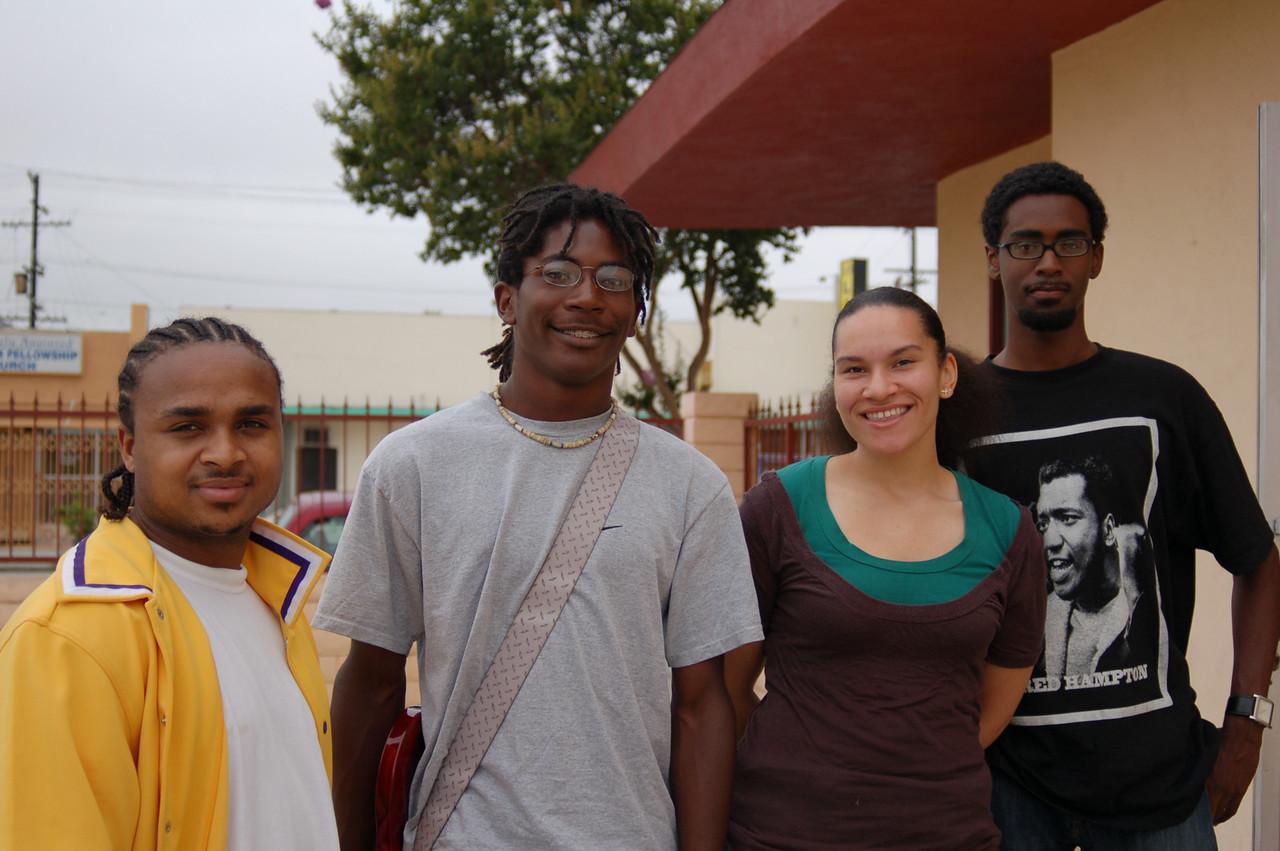 Student teachers: Jaaye Person-Lynn, Gyasi, Afia Opantiri, and Maurice Smith.