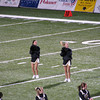 Autumn (2nd from left) cheering