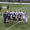 The coin toss - Bentonville won and let Fayetteville have the ball