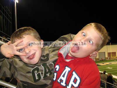 Zack and Jake goofing off after the game