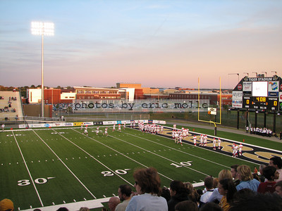 Friday Night Lights - Bentonville High School in the background