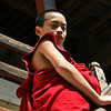 Novice monk in Wangdue Phodrang Dzong