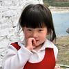 Young girl in Paro bridge