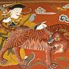Paro Dzong fresco - chained tiger