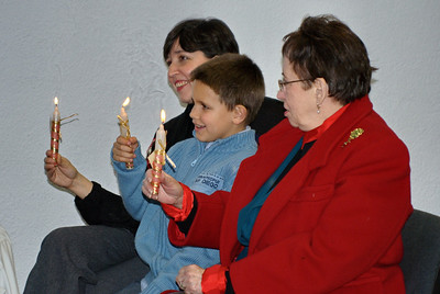 Jesus is the Light of the World - Merly, Daniel, and Mercy with Candles in Hoyo de Manzanares
