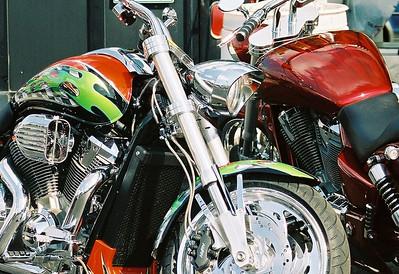 DOUBLE TROUBLE Bikes, Blues & Bar B Que Fayetteville, AR 2005