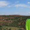 "This is Caprock Canyon State Park in the Texas Panhandle. It's just outside the tiny town of Quitaque (pronounced ""kitty cue"".  It's the 3rd largest park in Texas and elevation runs up to about 1,000 meters."