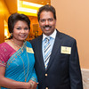 Sudandra and Raj Ratnasamy pose together for a photo during the BIMDA banquet and reception at the Hilton Melbourne Rialto. (Photo by Amanda Stratford, for FLORIDA TODAY)