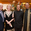 Homi Cooper, Eileen Cooper, Mahesh Soni and Abdul Karim pose together for a photo during the BIMDA banquet and reception at the Hilton Melbourne Rialto. (Photo by Amanda Stratford, for FLORIDA TODAY)