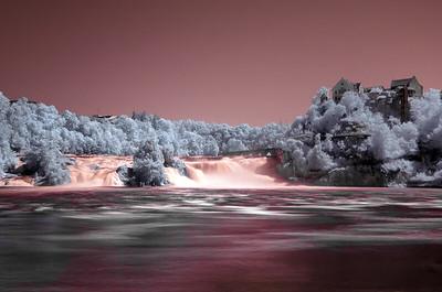 Rhein Falls, Switzerland - Infrared
