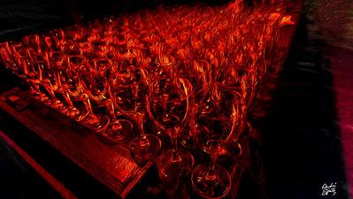 The fire wine glasses