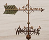 Common Redpolls On Weathervane