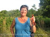 Cindy McIntyre and male cardinal, JIBS, Oct 2012 (1)