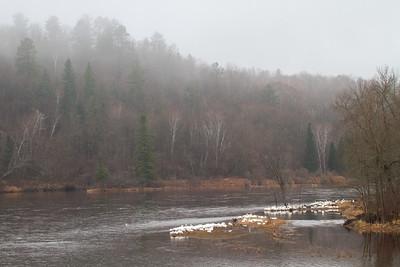 American White Pelican flock St  Louis River at Fond du Lac Bridge Duluth MN -5728