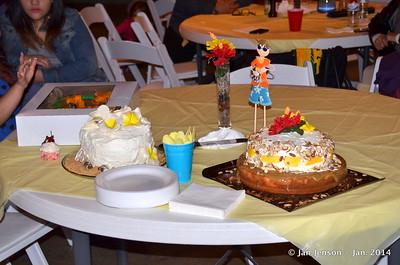 3 birthday cakes!