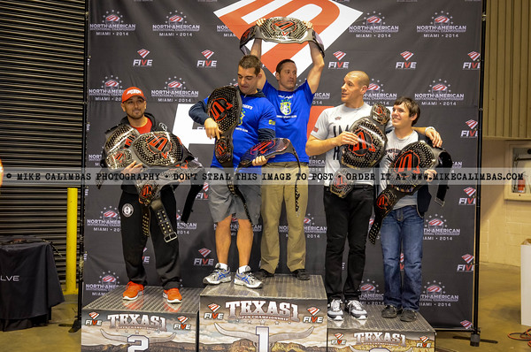 FIVE Grappling Texas 1 - Podium Photos