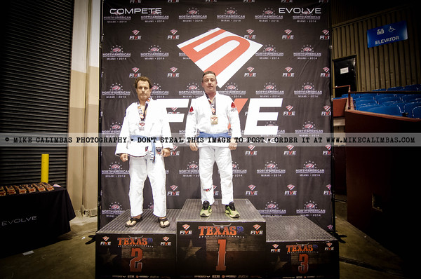 FIVE Grappling Texas 2 - Podium Photos - October 4-5, 2014