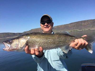 Fred caught this monster walleye on Banks Lake with BJ.