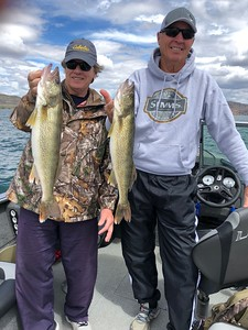 Jay and Lou caught walleye with BJ's Guide Service on Bank's Lake.