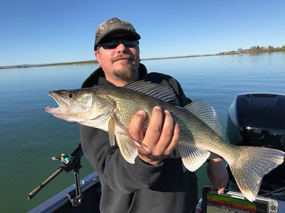 James caught a nice walleye on Moses Lake with BJ.