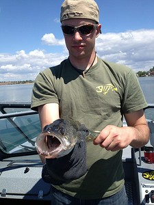 Brian and BJ had a great time fishing on Moses Lake.