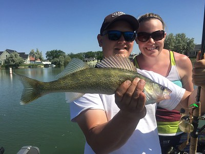 John caught this good-sized walleye with BJ on Moses Lake.