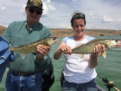 Jim and Ann caught their first walleye with BJ's Guide Service.
