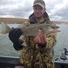 Brian caught a nice walleye with BJ on Moses Lake.