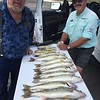 """Lenny and Dave Graybill, the """"Fishin' Magician,"""" caught some walleye on Moses Lake with BJ's Guide Service."""