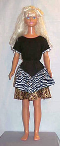 MSB Zebra & Leopard Tiered Skirt w Yoke & Top full